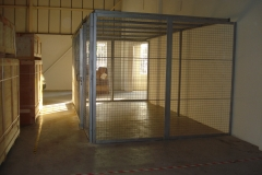 A metal cage