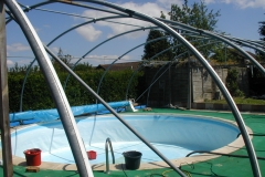 Outdoor pool frame