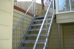 Metal staircase and railing