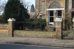 Black fence railing