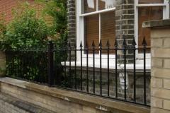 Black spiked fence railing
