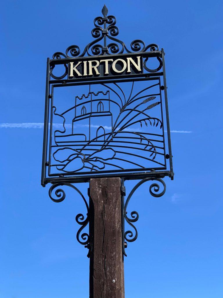 Kirton village sign